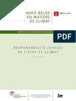 Gouvernance belge en matière de climat – Responsabilité civile de l'État (2018)
