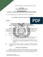 Ley 082 Ley de Reposicion Economica a Las Victimas de Suplantacion de Identidad - Renta Dignidad