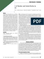 Interfacial Strength of Resilon and Gutta-Percha to Intrarad