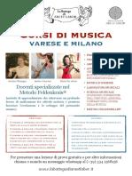 Locandina Bottega Varese Milano 2020-2021