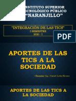 APORTES DE LAS TICS A LA SOCIEDAD