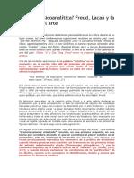 9- LOUTEREAU, L. ¿Estética psicoanalítica Freud, Lacan y la cuestión del arte.