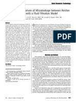 An In Vitro Comparison of Microleakage between Resilon and Gutta-Percha with a Fluid Filtration Model