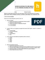Evaluación El periodo colonial en Chile
