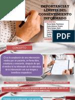 IMPORTANCIA Y LIMITES DEL CONSENTIMIENTO INFORMADO - FINAL