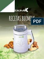 RECETAS BIOMILK - LECHES VEGETALES