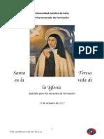 Subsidio Para Docentes Santa Teresa de Avila
