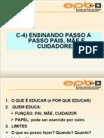 ensinando passo a passo PAI MÃE E CUIDADORES.ppt