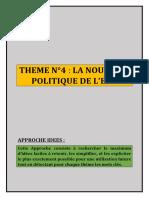 THEME N°4 LA NOUVELLE POLITIQUE DE L_EAU