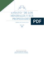 De Los Minerales y Sus Propiedades