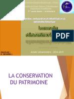 CR3 la conservation et l_intervention sur le patrimoine bâti 2014 2015