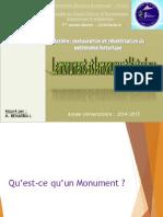 CR2 le monument et le monument historique 2014 2015
