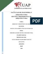 Especificaciones Tecnicas de Estructuras.docx