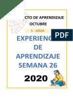 01. EXPERIENCIA DE APRENDIZAJE 5 años - SEM 26