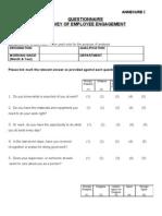 Survey of Employee Engagement Questionnaire 213