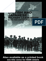 British and Japanese Military Leadership in the Far Eastern War, 1941-45 (Cass Series--Military History and Policy, No. 17)