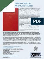 Infoblatt Graduale Novum I