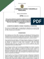 Resolución 2733 del 29 de diciembre de 2010