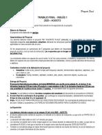 Indicaciones - Proyecto Final - Inglés 1 - 2020 Agosto