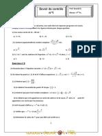 Devoir de Contrôle N°1 - phyisique estirification 2- Bac Sciences exp (2010-2011) Mr bouzidi dhaou