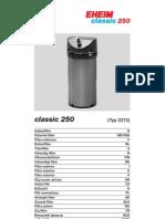 Eheim Classic 250 Typ 2213