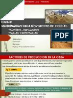 SEMANA 3 MAQUINARIAS PARA MOVIMIENTO DE TIERRAS