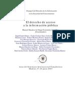 El derecho de acceso a la información pública