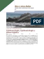 salud 1 epistemologia de la epidemiologia y salud publica