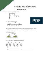 Examen del modulo de ciencias