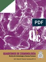 CUADERNOS DE CRIMINOLOGIA  núm 20