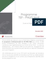 TEF - UNDP Mali - Orientation Programme 2020 (French)