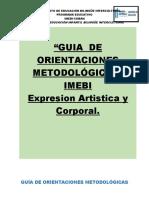Guia metodologica de Expresion Artistica