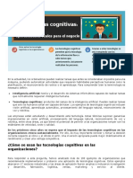 Árticulo sobre tecnologías cognitivas