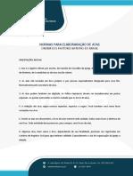 NORMAS PARA ELABORAÇÃO DE ATAS - MATERIAL EXTRAÍDO OPBB