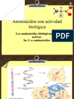 Aminoácidos Con Actividad Biológica