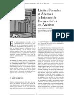 Límites formales al acceso a la información documental en los archivos