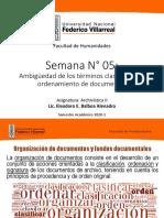 10063616_Archiv II Clase 05 - Clasificación y ordenamientos de documentos