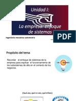 Unidad I-Empresa_enfoque de Sistemas