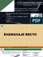 PPT ENGRANAJE RECTO- CONICO- TORNILLO SIN FIN. eva. 3-4