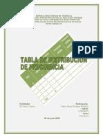 trabajo #3 tabla de dist. de frecuen.terminologia