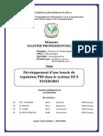 Développement d'une boucle de régulation PID dans le système DCS FOXBORO.pdf