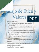 Trabajo de Etica y Valores