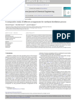 A comparative study of different arrangements for methanol distillation process