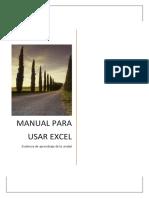 Manual para usar Excel