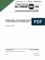 ISO 1459 Hots dip Galvanizing