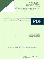 1975 - Pires, Jane, Ramiro Matos y Edgardo Pires - Informe programa de Arqueología