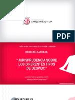JURISPRUDENCIA SOBRE LOS DIFERENTES TIPOS DE DESPIDO - Clase 11