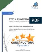 ÉTICA DE LAS INSTITUCIONES Y ORGANIZACIONES