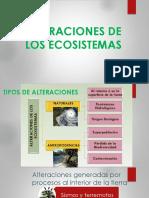 Alteraciones de los ecosistemas