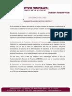 Diplomado Administración de Proyectos. On-line